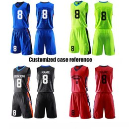 Wholesale DIY Private Custom Printed LOGO Sport suit Summer team training class clothing 5color free rendering professional add number Sweat vests dry quickly