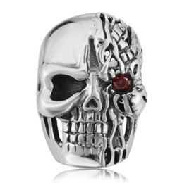 Punk Rings Australia - Free Shipping Mixed 5PCS PUNK gothic Gothic Lolita Skull Style Titanium steel Tisco ring Men Band Jewelry Bikers 09