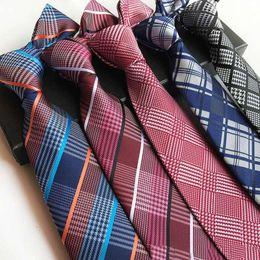 $enCountryForm.capitalKeyWord Canada - Mens Ties 8cm Men Tie High quality Plaid Shirt Tie Handmade Wedding Party Paisley Necktie British Style Luxury Business Stripes Neck Ties