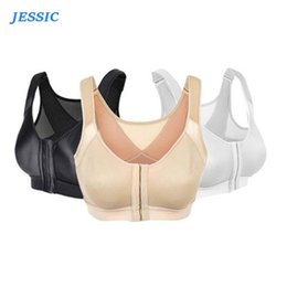 everyday strapped corset Canada - JESSIC Posture Corrector Lift Up Women Shockproof Sports Support Fitness Vest Bras Breathable Underwear Cross Back Corset S-XL