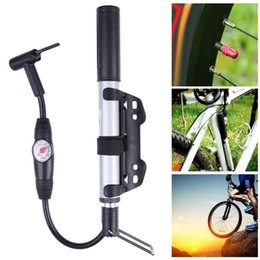 Mini Housing Australia - Mini Portable MTB Bicycle Pump With Gauge 120 PSI High Pressure Hand Mini Bike Tire Pump House Air Inflator Cycling Accessories #80629