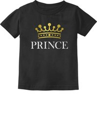 $enCountryForm.capitalKeyWord NZ - Prince Crown Gift for Son  Baby Brother Little Boys Toddler Infant Kids T-Shirt Funny free shipping Unisex Casual top