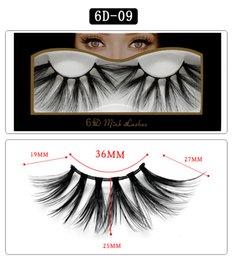 False Single Eyelashes Wholesale Australia - 6D-09 NEW 25mm False Eyelashes 5d Mink Hair 6d Stereo Messy Thick Eyelashes Europe and The United States 10 Options 11.2×5.5×1.6cm Single