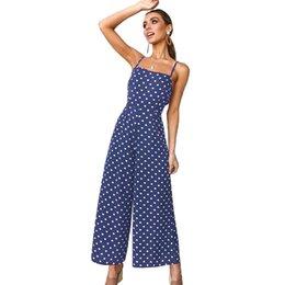 $enCountryForm.capitalKeyWord UK - Women Summer Jumpsuit Polka Dot Print Sleeveless Open Back Bandage combinaison femme High Waist Wide Legs Sexy Vacation Wear