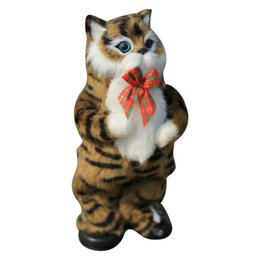 singing movies Canada - Cute Simulation Cat Electric Yellow Cat Singing And Dancing Cat Doll Gift Kids Interactive Toys Birthday Gift