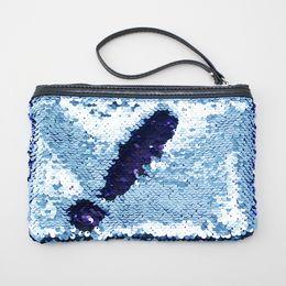 Large sequin purses online shopping - Women Mermaid Sequins Cosmetic Bag Large Capacity Clutch Handbag Clutch Envelope Bag BlingBling Makeup Bag Coin Purses RRA468