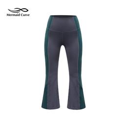$enCountryForm.capitalKeyWord UK - Mermaid Curve Women High Waist Patchwork Yoga Pant Popular Flared Pants Indoor Dance Training Calf-Length Sport Yoga Legging #958933