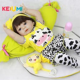 $enCountryForm.capitalKeyWord NZ - 23'' Lifelike Reborn Baby Dolls White Skin Babies Doll Full Vinyl Body So Truly Girl Model Doll For Toddler Bebe Toy Gifts J190508