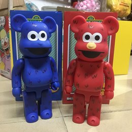 sesame toys Australia - HOT 400% 28CM Bearbrick Sesame Streetts figures Toy For Collectors Be@rbrick Art Work model decorations kids gift