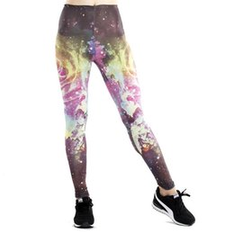 Wholesale+free Shipping Slim New Universe Digital White Swan Printed Leggingselastic Supernova Sale Pants Strong Packing Bottoms