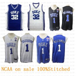 517803210da 2019 Wholesale Duke Blue Devils College jerseys 1 Zion Williamson 32  Christian Donald Laettner NCAA Basketball jersey100% Stitched