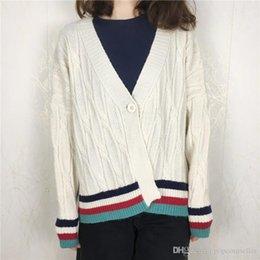 $enCountryForm.capitalKeyWord Australia - Autumn Winter Women Designer Sweaters Fashion New Preppy Knit Outerwear Matching Colors Stripes Sweaters Knit Women Clothes