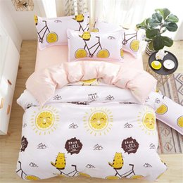 hot pink king size bedding Australia - Hot Sale Popular Bedding Set Single Double King Size Pink Yellow Blue Color Duvet Cover Set with Pillowcase of Bedding Cover Suit