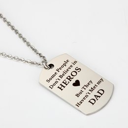 t necklace 2019 - Lettering Necklace Some People Don`t Believe in Stainless Steel Simple Necklace Fashion Jewelry Father's Day Hero G