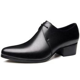 $enCountryForm.capitalKeyWord Australia - New mens pointed toe lace up high heels fashion oxford shoes black wedding dress shoes men height increase man