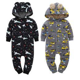 $enCountryForm.capitalKeyWord Australia - Infant Baby Winter Warm Rompers Fleece Lining Newborn Ears Costume Long Sleeve Hooded Jumpsuit Overalls For 6-24m Baby Boy Girl J190526