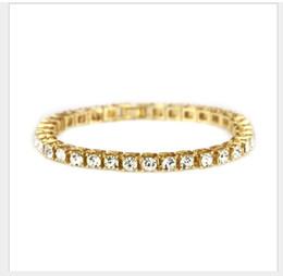 Amethyst Tennis Bracelet Silver Australia - New accessories hip-hop single-row drill Bracelet men's fashion jewelry
