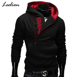 $enCountryForm.capitalKeyWord Australia - Icelion 2019 Side Zipper Hoodies Men Cotton Sweatshirt Spring Letter Print Sportswear Slim Pullover Tracksuit Hip Hop Streetwear S19731