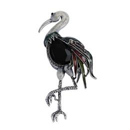 $enCountryForm.capitalKeyWord Australia - Doluo 2019 New Pattern Red-crowned Crane Brooch High Rhinestone Flamingo Brooch PIN Ornaments Accessories Jewelry