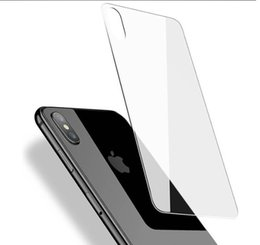 iphone glass screen protector front back Australia - iPhone 11 pro XS MAX XR Back Tempered Glass Ultra Thin 0.3mm 9H Back Screen Protector for iPhone 8 plus XS MAX