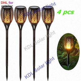Tiki Lights Australia - Solar 96LEDs Lawn Dancing flame Torch Lights radar 3 working mode led Solar Tiki lamp indoor outdoor street camps wall Landscape