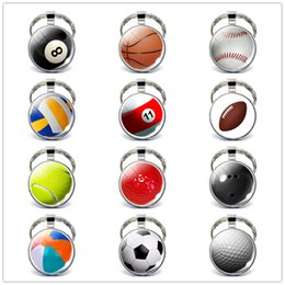 $enCountryForm.capitalKeyWord Australia - 2019 New Sports Keychain Car Key Chain Key Ring Football Basketball Golf ball Pendant Keyring For Favorite Sportsman's Gift