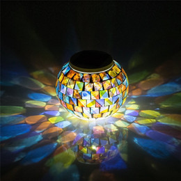 $enCountryForm.capitalKeyWord Australia - Solar Powered Mosaic Glass Ball Garden Lights, Color Changing Solar Table Lamps, Solar Outdoor Lights for Parties Decorations