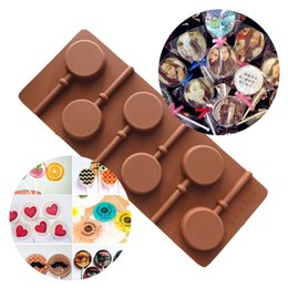 3d mold maker online shopping - Lollipop Shape DIY Silicone Cake Mold D Ice Cream Maker Holes Cakes Decorating Tools For Chocolate Fondnat Molds Dessert Tool