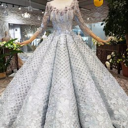 turkish evening dresses long sleeve UK - 2019 Newest Design Turkish Prom Dresses Illusion O Neck Long Tulle Sleeve Chest Tassel Party Dresses Applique Shining Sequins Evening Gowns