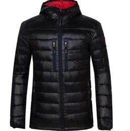 2018 New Casual Brand canada Windproof Down Men Down Jacket Winter Warm Coat Men S Ultralight Duck Down Male Windproof goose Parka 200 on Sale