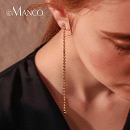 Cheap Christmas Gift Jewelry Australia - Cheap Drop e-Manco Long Drop Earrings Jewelry for Women Luxury Gold Color Chain Dangle Earrings femme Fashion Gifts Classic Jewelry