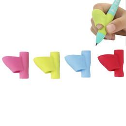 Correction Pens Australia - 3PCS Set Writing Correction Tool Silicone Pencil Pen Writing Aid Grip Posture Gift For Kids Student Children Random Color