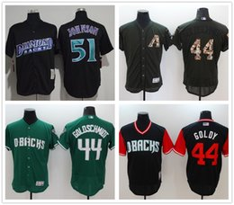 0543229fa Black Diamondbacks Jersey NZ - 44 Paul Goldschmidt Custom Diamondbacks  Baseball Jersey 51 Randy Johnson Jake