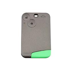 $enCountryForm.capitalKeyWord Australia - 2 Button Keyless Smart Card Remote Key Fob for Renault Laguna Espace 433MHZ With logo and Word