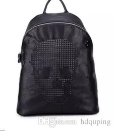 $enCountryForm.capitalKeyWord Australia - Factory sales brand package Korean style soft leather backpack fashion lychee pattern leather casual backpack trend style punk backpack