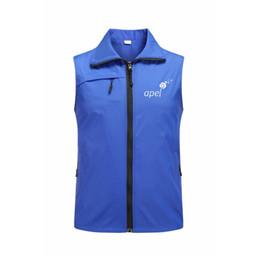 $enCountryForm.capitalKeyWord Canada - Custom Design DIY Logo men Women Vest Work clothing custom digital logo Light weight Thin male Female Volunteer Vest jacket