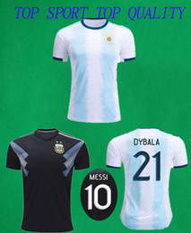 argentina l short Canada - 19 20 Argentina Soccer Jerseys Home Away Footall Shirts 2019 2020 Messi DI MARIA DYBALA Football Jerseys Mens Camisetas De Futbol