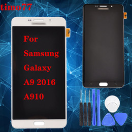 samsung digitizer UK - Hot! Original LCD Screen Assembly For Samsung Galaxy A910 A9 2016 A9100 LCD Display Touch Screen Digitizer Complete free DHL with free tools