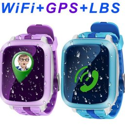 Kids Smart Gps Tracking Watch Australia - DS18 GPS Smart Watch Tracker Tracking Kids SmartWatch Waterproof Sim Card For Kids Gift SOS Emergency Wristwatches Remote Monitor