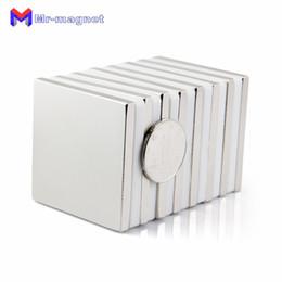 Super Blocks Australia - 2019 imanes Real Refrigerator imanes 2pcs 50 X 5mm Super Strong Rare Earth Permanet Magnet Powerful Block Neodymium Magnets 50*50*5 50x50x5