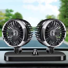 Cooler 24v online shopping - 12V V Universal Inside Car Fan Accessories Auto Rotating Double Head Low Noise Air Cooling Powerful Truck Electric Wind USB