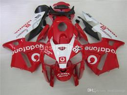 Injection Abs Fairings Australia - Injection ABS 100% fit for Honda fairings CBR600RR 05 06 red white bodywork fairing kit CBR600RR 2005 2006 FF32