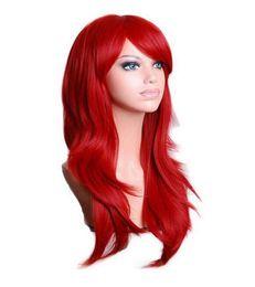 $enCountryForm.capitalKeyWord UK - Long Wavy Cosplay Wig Red Green Puprle Pink Black Blue Sliver Gray Blonde Brown 70 Cm Synthetic Hair Wigs