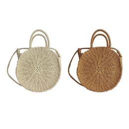 $enCountryForm.capitalKeyWord UK - Beach Hand Straw Rattan Woven Bag Braided Fashion Outdoor Beach Bag Travel Sling Crossbody Messenger Shoulder Tote Bags Handbag Y190704