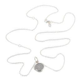 $enCountryForm.capitalKeyWord Australia - Pandulaso Round Dangle Necklace & Pendant Sterling Silver Jewelry European Style Fashion Woman Jewelry Making Chorker Chain J190615