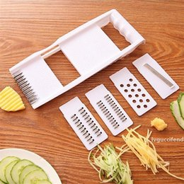 plastic radish Australia - 6 In 1 Multifunction Cutter Carrot Vegetable Potatoes Salad Radish Slicer Peeler Grater Cooking Cutter Kitchen Tool Accessories Slicer