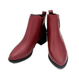 5b7ea72c745e Red Ankle Boot Wedges UK - Warm Casual Spring Autumn Women Ankle Boots  Solid Wedge Heel