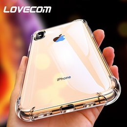 iphone clear protector NZ - Lovecom Luxury Transparent Clear Soft Tpu Anti-knock Back Cover For Iphone Xs Xr Xs Max X 5s 6 6s 7 8 Plus Phone Cases Protector
