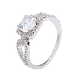Hollow Fingers Australia - Hot Women Hollow Round Cubic Zirconia Engagement Finger Ring Jewelry Decor Gift