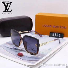 Vente en gros 2020 Luxury Fashion Designers Grand Métal Lunettes de soleil pour homme femme en verre Lentilles Protection UV Lunettes de soleil 008